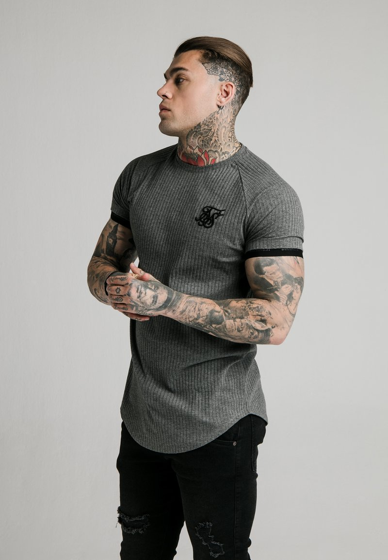 SIKSILK - RIB TECH - Camiseta básica - grey