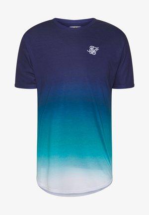TRIPLE FADE TEE - T-shirt print - navy/teal/blue
