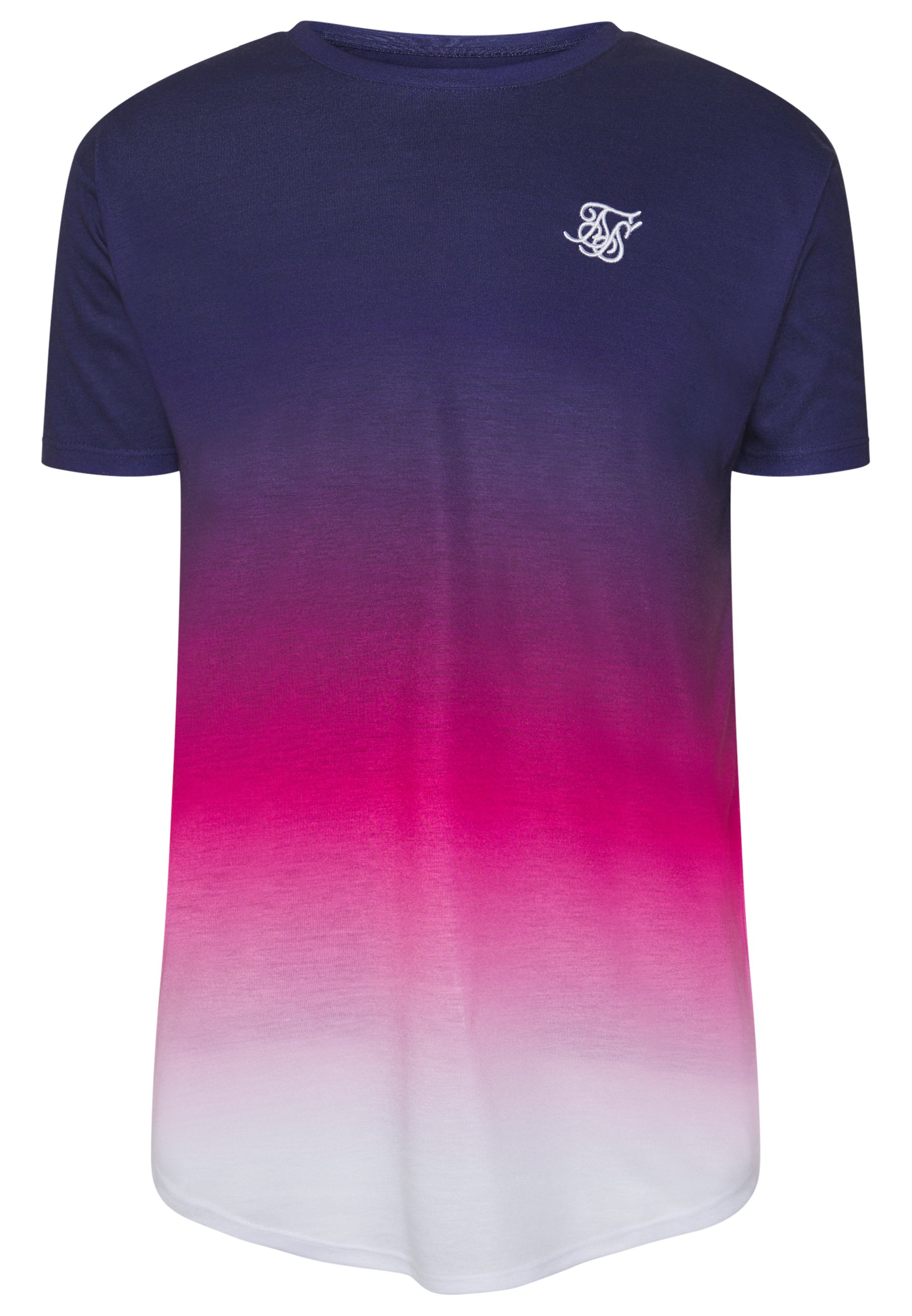 Siksilk Triple Fade Tee - T-shirt Med Print Navy/teal/blue