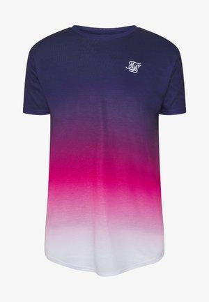 TRIPLE FADE TEE - Print T-shirt - navy/pink/white