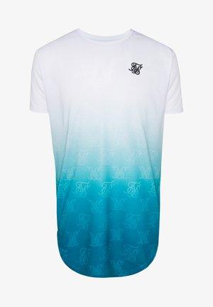 MONOGRAM FADE - T-shirt print - white/dark teal