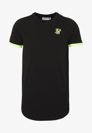 TECH TEE - T-shirt print - black/neon yellow