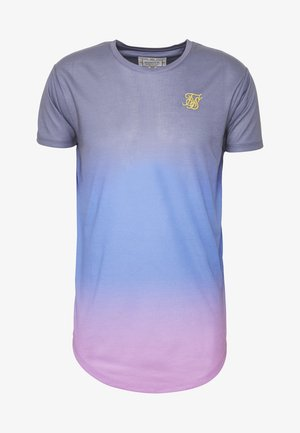 CURVED HEM FADE TEE - T-shirts med print - tri neon