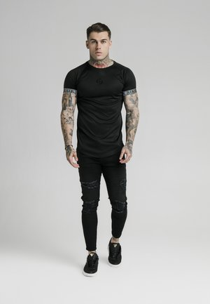 IRIDESCENT TECH TEE - T-shirt med print - black