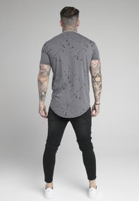 SIKSILK - SPLATTER GYM TEE - T-shirt imprimé - grey