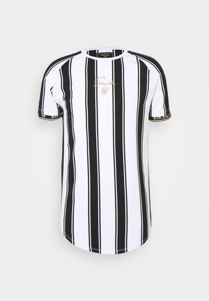 STRIPE TEE - T-shirt med print - black/white