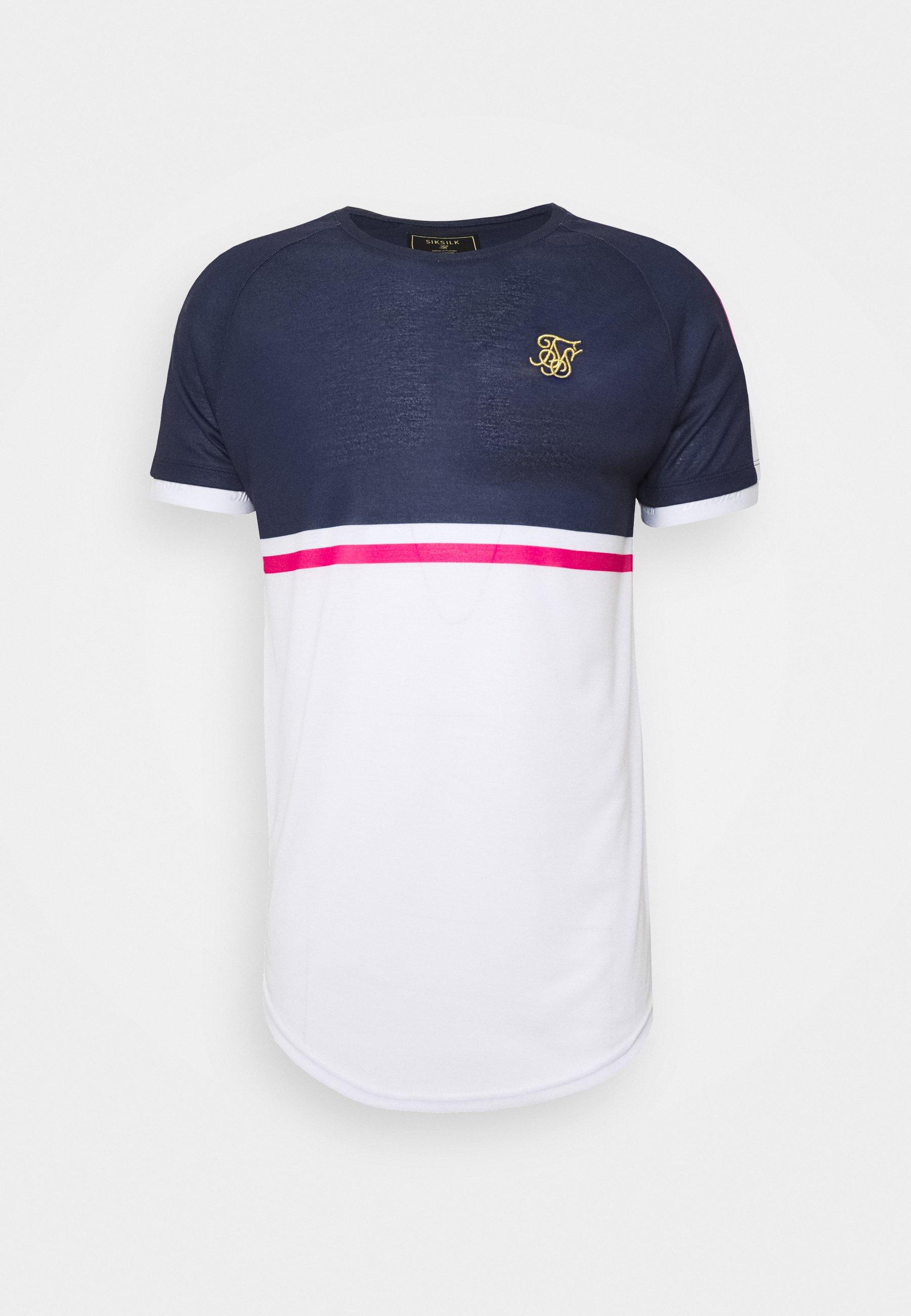 FADE PANEL RETRO STRIPE TEE T shirt print greypinkwhite