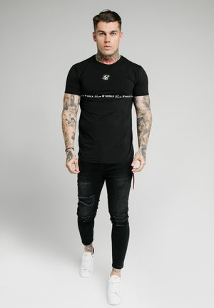 STRAIGHT HEM GYM TEE - T-shirt print - black