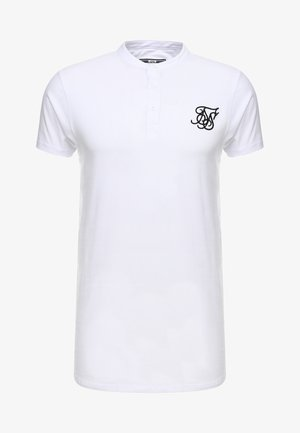 GRANDAD COLLAR - Basic T-shirt - white