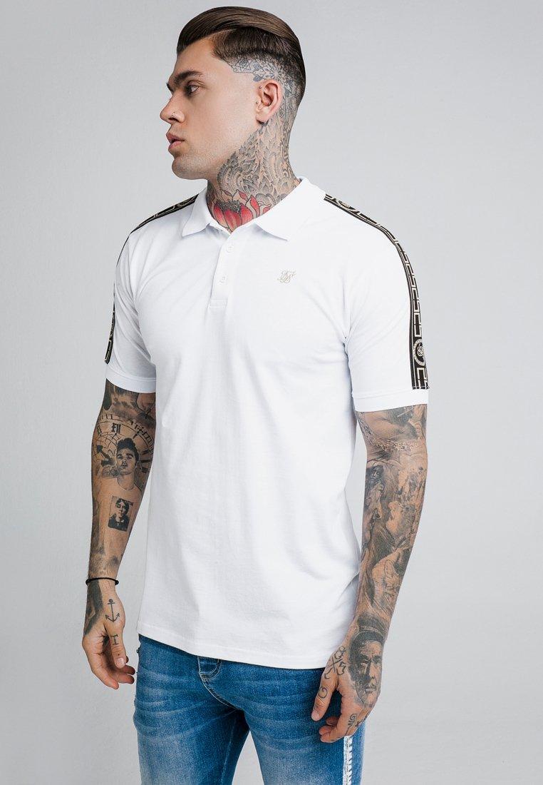 SIKSILK - TAPED - Poloshirt - white/gold