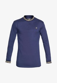 SIKSILK - SIKSILK LONG SLEEVE CHAIN RIB COLLAR CUFF - T-shirt à manches longues - navy - 3