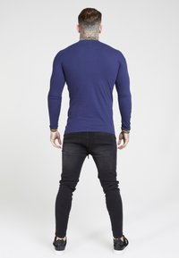 SIKSILK - SIKSILK LONG SLEEVE CHAIN RIB COLLAR CUFF - T-shirt à manches longues - navy - 2