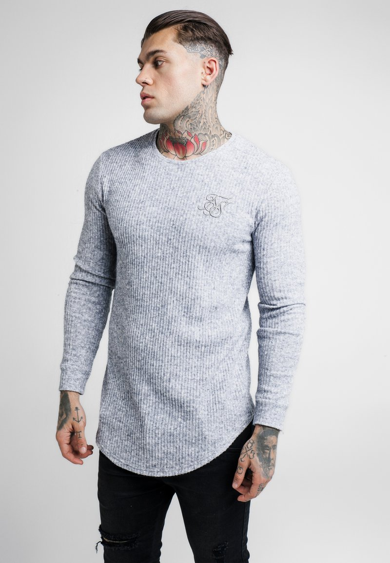 SIKSILK - CREW NECK JUMPER - Strikkegenser - light grey