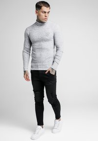 SIKSILK - ROLL NECK JUMPER - Trui - light grey - 1