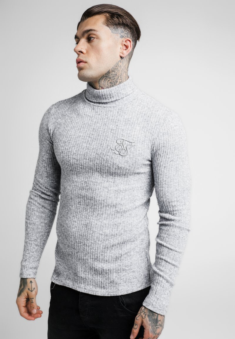 SIKSILK - ROLL NECK JUMPER - Strikpullover /Striktrøjer - light grey