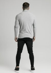 SIKSILK - LONG SLEEVE BRUSHED TURTLE NECK - Strikkegenser - grey - 2