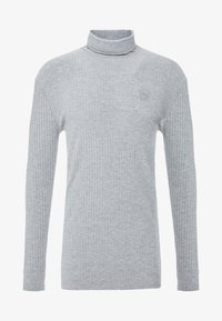 SIKSILK - LONG SLEEVE BRUSHED TURTLE NECK - Strikkegenser - grey - 3
