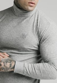 SIKSILK - LONG SLEEVE BRUSHED TURTLE NECK - Strikkegenser - grey - 4