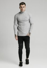 SIKSILK - LONG SLEEVE BRUSHED TURTLE NECK - Strikkegenser - grey - 1