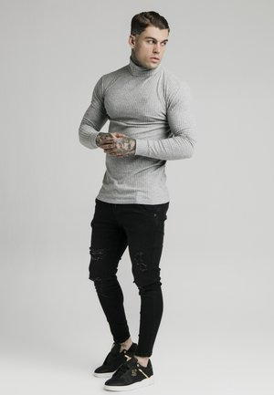 LONG SLEEVE BRUSHED TURTLE NECK - Stickad tröja - grey