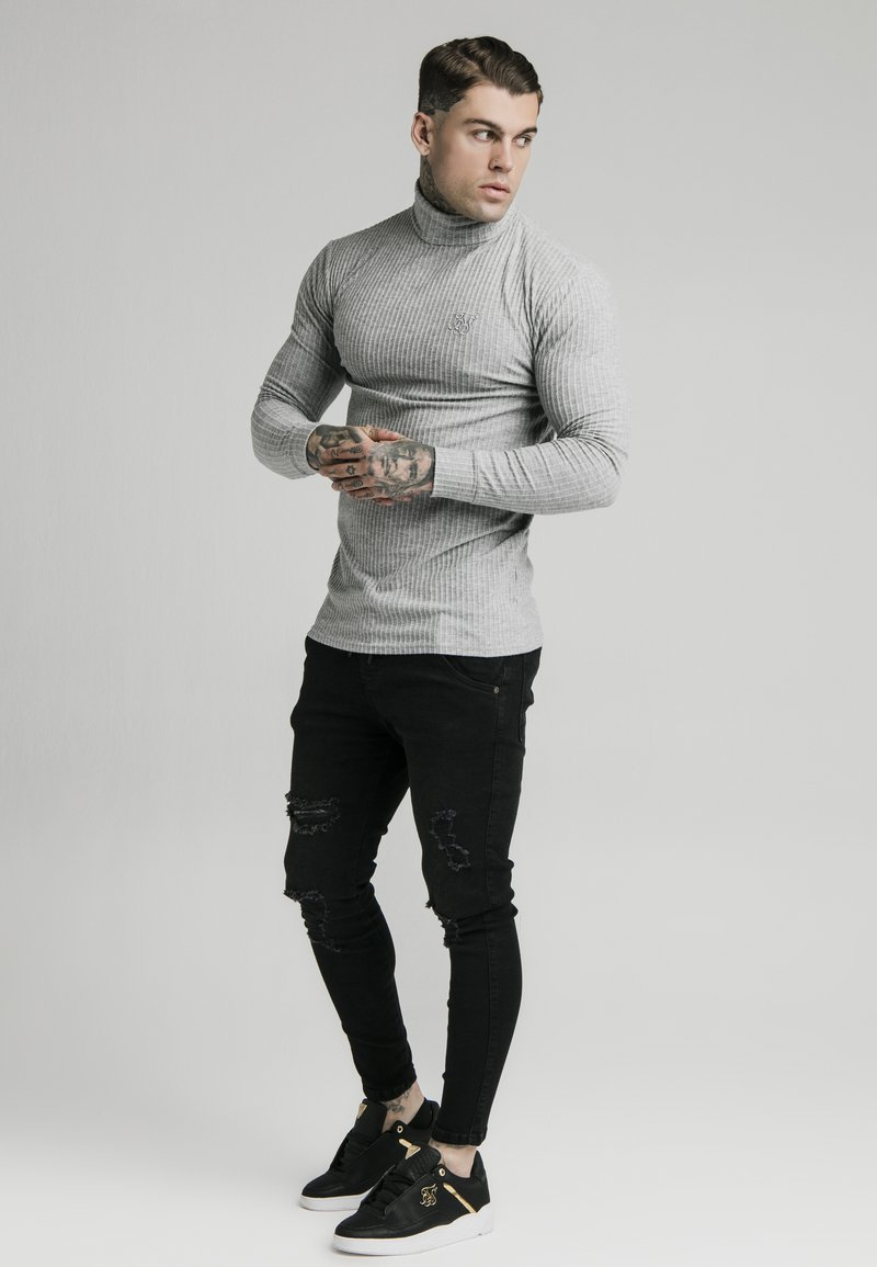 SIKSILK - LONG SLEEVE BRUSHED TURTLE NECK - Pullover - grey