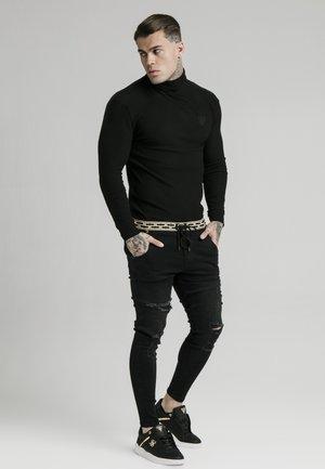 LONG SLEEVE BRUSHED TURTLE NECK - Stickad tröja - black