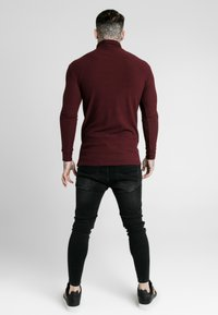 SIKSILK - LONG SLEEVE BRUSHED TURTLE NECK - Strickpullover - burgundy