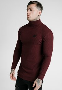 SIKSILK - LONG SLEEVE BRUSHED TURTLE NECK - Strickpullover - burgundy - 3