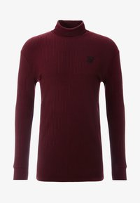SIKSILK - LONG SLEEVE BRUSHED TURTLE NECK - Strickpullover - burgundy - 4