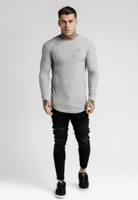 SIKSILK - LONG SLEEVE BRUSHED GYM TEE - Stickad tröja - grey - 1