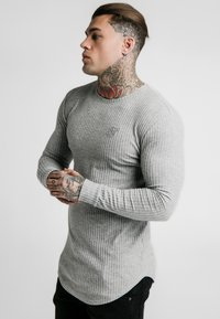 SIKSILK - LONG SLEEVE BRUSHED GYM TEE - Stickad tröja - grey - 3