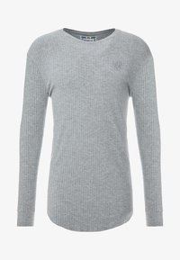 SIKSILK - LONG SLEEVE BRUSHED GYM TEE - Stickad tröja - grey - 4