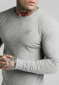 SIKSILK - LONG SLEEVE BRUSHED GYM TEE - Stickad tröja - grey - 5