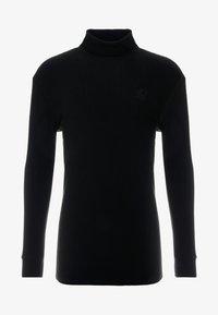 SIKSILK - LONG SLEEVE BRUSHED TURTLE NECK - Pullover - black - 4