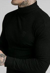 SIKSILK - LONG SLEEVE BRUSHED TURTLE NECK - Pullover - black - 5