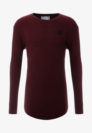 LONG SLEEVE BRUSHED GYM TEE - Langarmshirt - burgundy