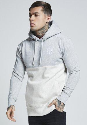 DROP SHOULDER CUT SEW HOODIE - Felpa con cappuccio - grey marl off-white