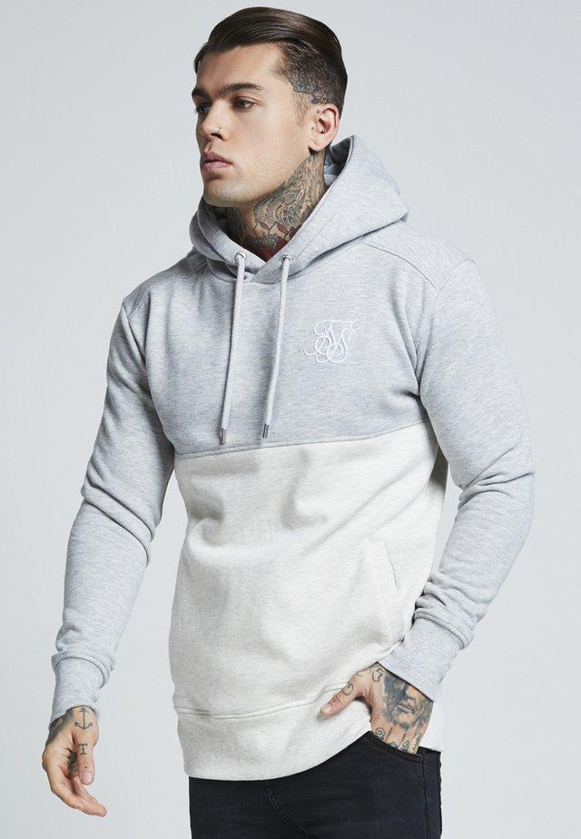 DROP SHOULDER CUT SEW HOODIE - Jersey con capucha - grey marl off-white