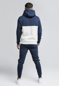 SIKSILK - CUT & SEW TAPED HOODIE - Hoodie - navy/snow marl - 2