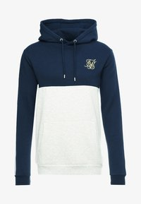 SIKSILK - CUT & SEW TAPED HOODIE - Hoodie - navy/snow marl - 3