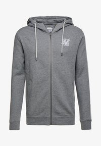 SIKSILK - INSET ZIP THROUGH HOODIE - veste en sweat zippée - grey marl/snow marl - 3
