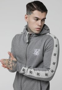 SIKSILK - INSET ZIP THROUGH HOODIE - veste en sweat zippée - grey marl/snow marl - 4