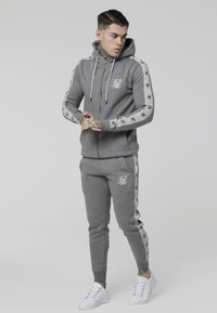 SIKSILK - INSET ZIP THROUGH HOODIE - veste en sweat zippée - grey marl/snow marl - 1