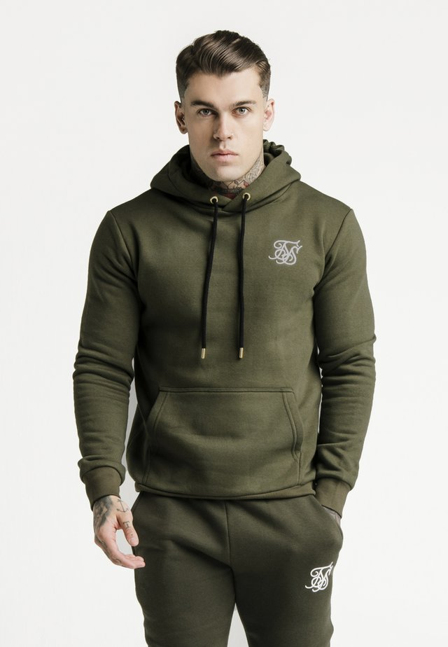 MUSCLE FIT OVERHEAD HOODY - Jersey con capucha - khaki/white