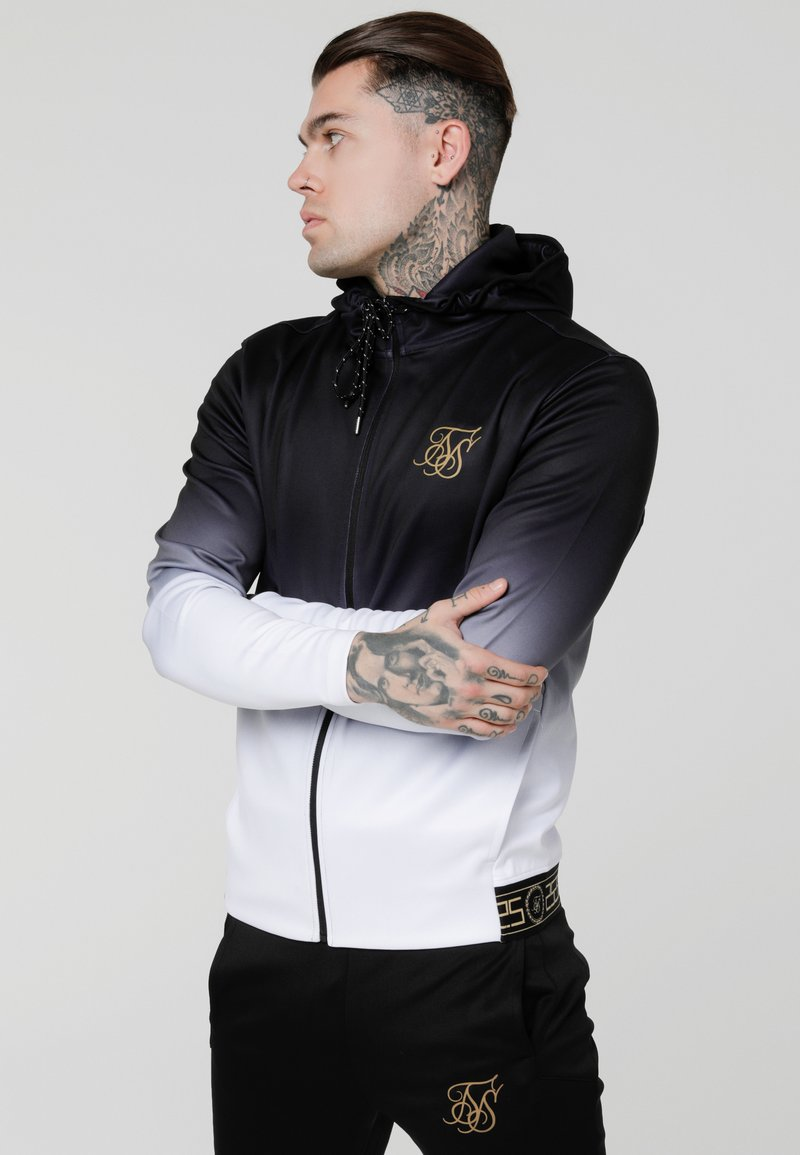 SIKSILK - AGILITYZIP THROUGH HOODIE - Training jacket - black/white