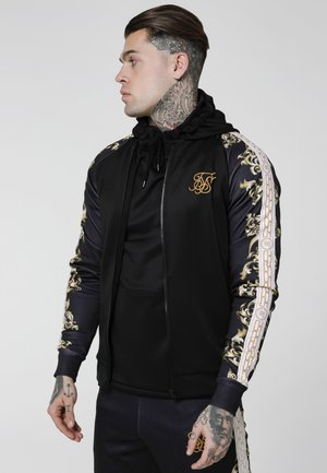 TRICOT BOMBER JACKET - Chaquetas bomber - black/white/gold