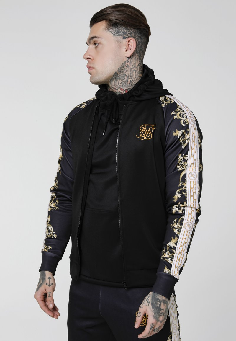SIKSILK - TRICOT BOMBER JACKET - Bombertakki - black/white/gold