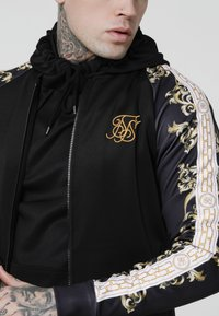 SIKSILK - TRICOT BOMBER JACKET - Bombertakki - black/white/gold - 4