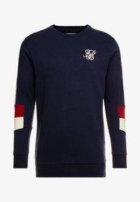 SIKSILK - RETRO PANEL TAPE CREW - Sweater - navy/red/off white - 3