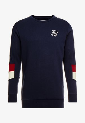 RETRO PANEL TAPE CREW - Sweatshirt - navy/red/off white